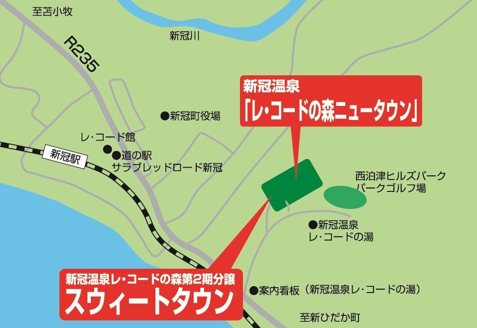 区画図は以下のようになっております。 入口両サイドが公園用地。1~8区画... レ・コードの森