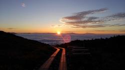 雲海と日の出 八方尾根