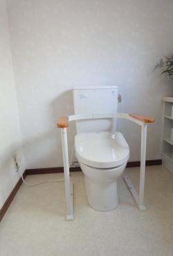 トイレ手すり取付完成