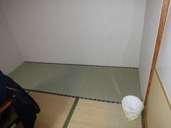床の間と押入れを畳にしました。