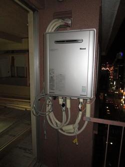 給湯器ガス工事完了。